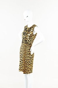 Blumarine Beige Leopard Dress