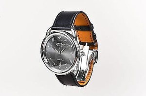 Hermès Hermes Stainless Steel Black Leather Arceau Tgm Automatic Watch