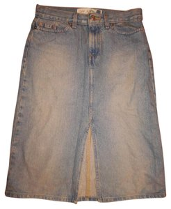 Gap 90s Split Front Small Skirt Light Blue
