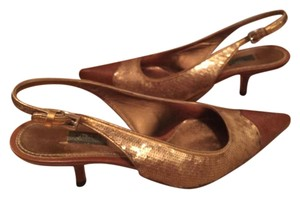 Prada Gold/Brown Pumps