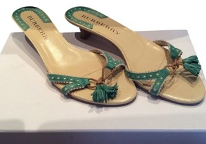 Burberry Green Sandals