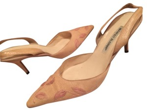 Manolo Blahnik Nude/Tan/Pink Pumps