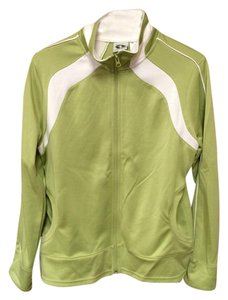 Athletic Works Ladies Lime Green/White Athletic Works Zip Front Jacket Large