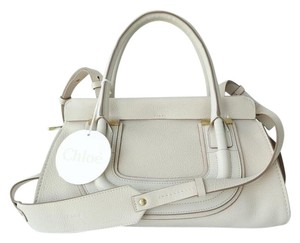 Chloé Shoulder Chloe Satchel in Abstract White