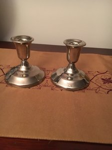 Silver Plated Candle Holders Candle Sticks