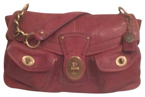 Coach Leather Distressed Handbag Hobo Bag