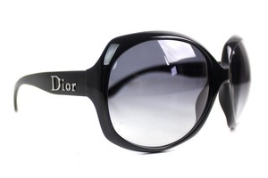 Dior Black Glossy 1 Oversized Sunglasses New