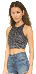Rag & Bone Rag & Bone/JEAN Liverpool Black White Chevron Sport Active Crop