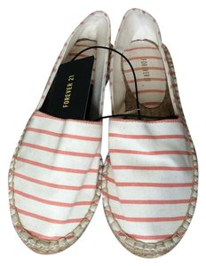 Forever 21 Cream with peach stripes Flats