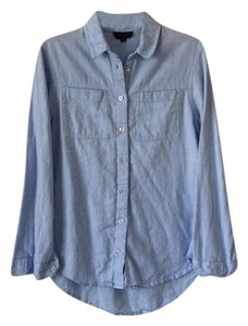 Topshop Button Down Shirt Medium denim wash
