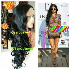osaro Jewel OsaroJewel celebrity dark curly lace front full wig. FREE GIFTS