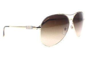 BVLGARI Serpenti Gold Aviator Pilot Sunglasses New 6075