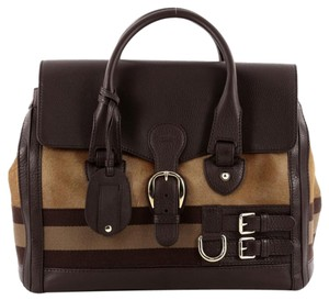 Gucci Pony Hair Satchel in Brown