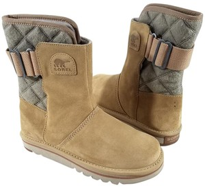 Sorel Suede Leather Felt Back Fleece Lining Water Resistant Nl-2068-373 CURRY Boots