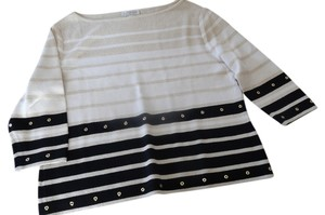 St. John Decorative Metal Sweater