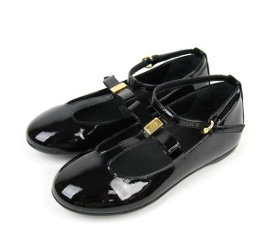 15f3d22c9e1 Gucci Black Kids Ballet Flat W Bow G 29  Us 12 285313 Shoes