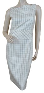 Carolina Herrera Silk Wool Designer Sleeveless Dress