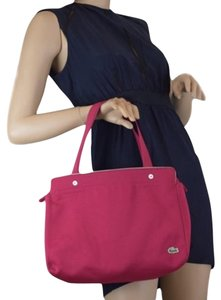 Lacoste Tote in Light Burgandy