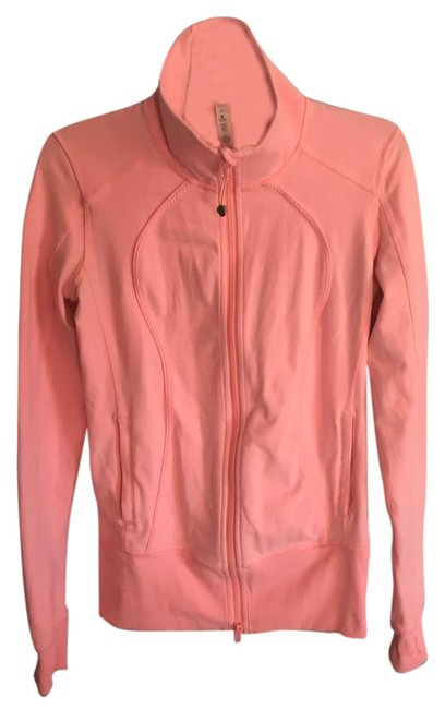 Item - Peach Coral Zip Up Activewear Outerwear Size 8 (M, 29, 30)