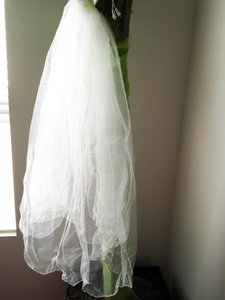 Medium Length Beaded Edge Veil