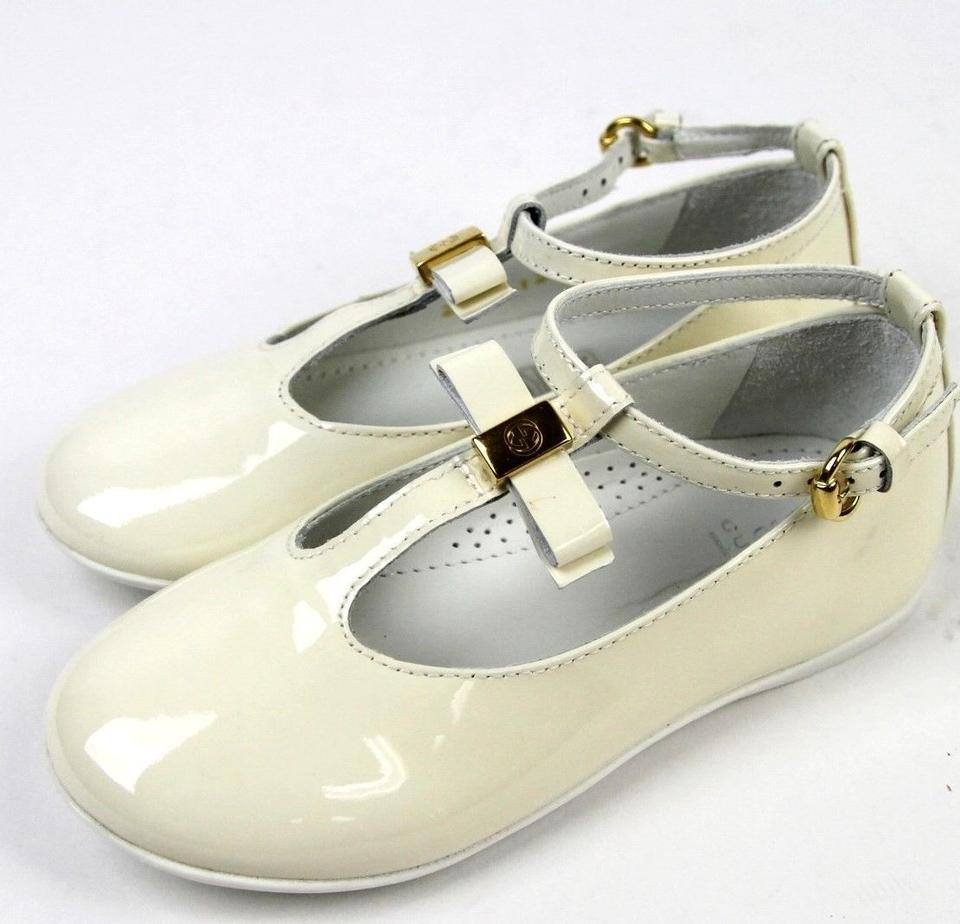 49d21c9d782 Gucci White Kids Ballet Flat W Bow G 28  Us 11 285313 Shoes - Tradesy