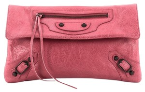 Balenciaga Leather Pink Clutch