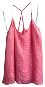 Lilly Pulitzer Sleeveless Sparkle Silk Party Top Pink