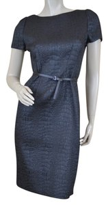 Elie Tahari Designer Textured Belt Dress