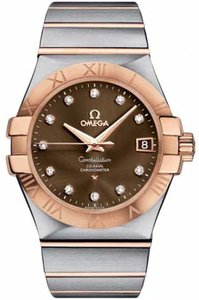 Omega Omega Constellation Diamond Co-Axial 18K RG/SS Auto 35mm Date Watch