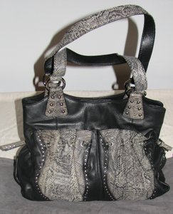 Carlos Falchi Leather Studded Lambskin New Shoulder Bag