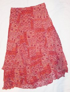 Coldwater Creek Large New With Tags Red/orange Maxi Skirt Red