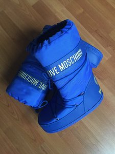Love Moschino Moschino Moon Snow Gold Blue Boots