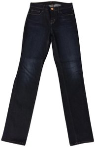 J Brand Denim Skinny Blue Straight Leg Jeans-Dark Rinse