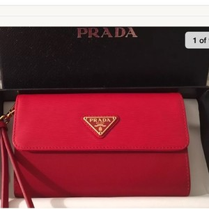 Prada Wristlet in Red