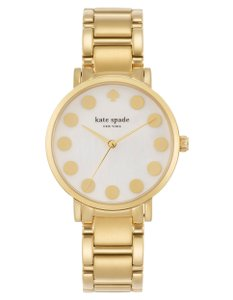 Kate Spade 23k gold plated Gramercy Dot Watch