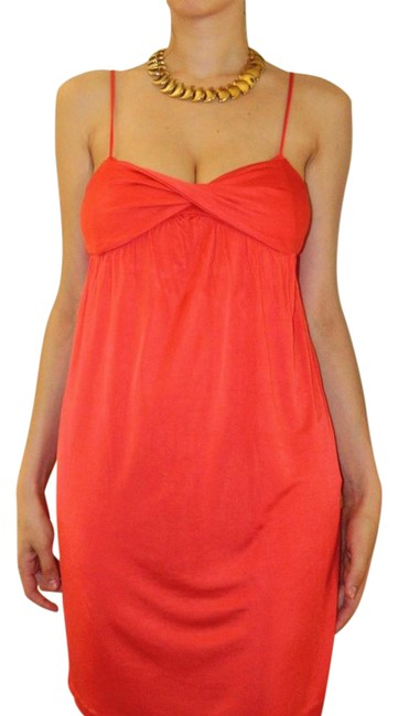 Item - Orange Red Above Knee Night Out Dress Size 4 (S)