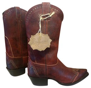 Sonora New Studded Statement Red Maroon Boots
