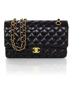 Chanel Double Flap Quilted Flap Shoulder Bag