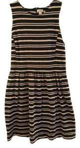 J.Crew short dress Black and white stripes Striped on Tradesy