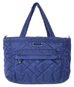 Marc Jacobs Elizababy Navy Quilted Nylon Diaper Bag