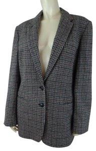 Ralph Lauren Wool New Lined Classic Houndstooth Blazer