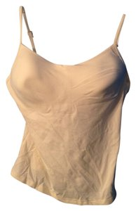 New York & Company Adjustable Straps Top Ivory