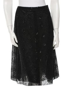 Chanel Sequin Skirt Black