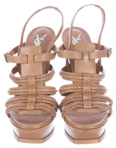 Saint Laurent Tribute High Heels Tribute Highheels Women Ysl Tan Sandals