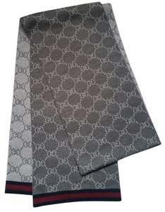 Gucci *New with Tags* Wool Grey Reversible GG Guccissima Scarf
