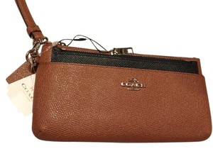 Coach New With Tag Shipping Included Legacy Great And Stylish Wristlet in Saddle