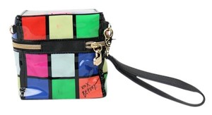 Betsey Johnson Rubics Cube Vinyl Retro Vintage Wristlet in Multi-colored