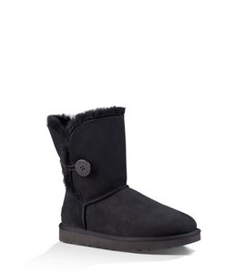UGG Australia Bailey Button Ugg Womens Black Boots