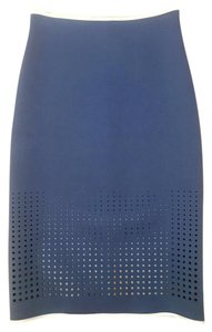 Clover Canyon Reversible Laser Cutouts Skirt Blue Grey