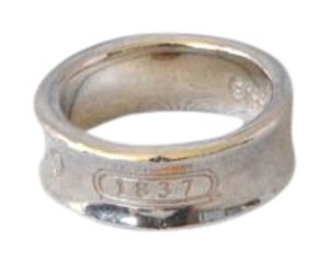 Tiffany & Co. Tiffany & Co. Sterling Silver Wide 1837 Ring